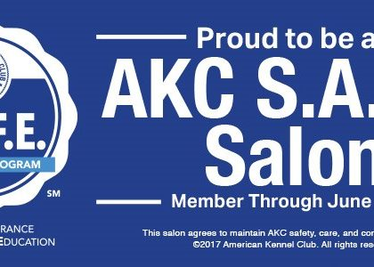 Now AKC S.A.F.E Certified!